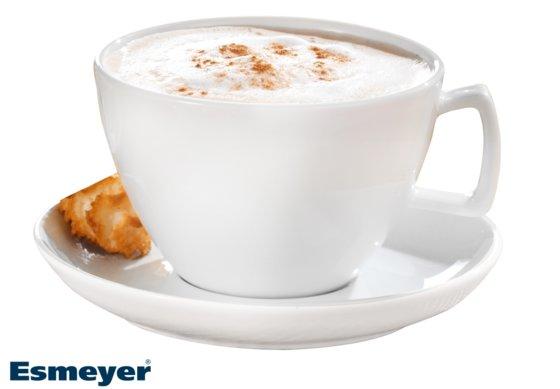 Milchkaffee-Tasse, mit Untertasse, Form CREMA