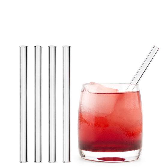 Glastrinkhalm gerade 15 cm 50 Stück - Alternative zum Plastikhalm